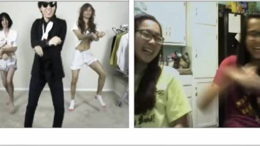 'Gangnam Style' on Chatroulette