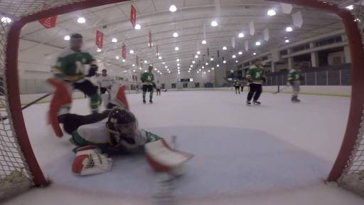 Goalie Makes Incredible Save on the Ice