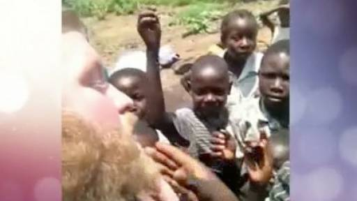African Children Get First Glimpse at a White Dude