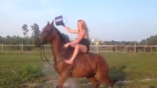Why You Should Never Do the Ice Bucket Challenge While Riding a Horse...