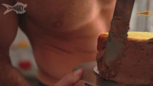 Original Video: Delicious Naked Demo of Pastry Decorating; Cake Looks Good, Too