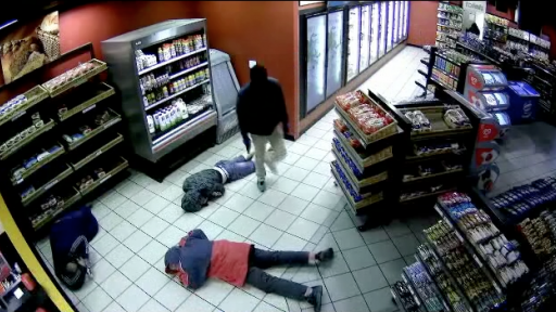 Huge Group Terrorizes and Robs Gas Station
