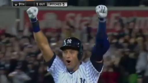 Derek Jeter Hits Walk-Off Single to Win Final Game at Yankee Stadium