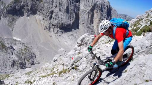 Death-Defying Mountain Biking Through the Steinerne Rinne