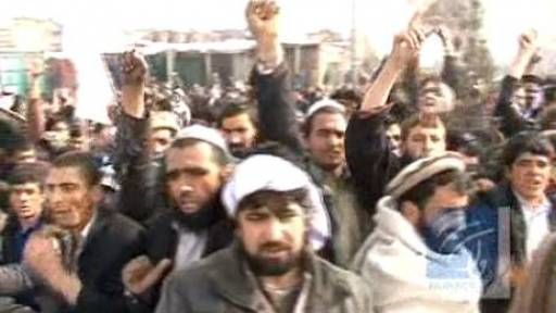 Hundreds Protest Amid Allegations Troops Burned Qurans
