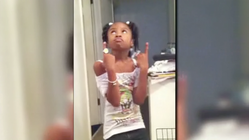 Little Girl Raps About 'Kickin' It' With Her Daddy