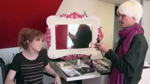 Lindsey Stirling Gets Her Makeup Done in 'Kid Snippets' Sketch