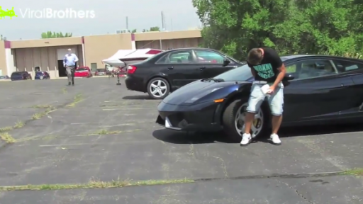 If You're Going to Poop on a Lamborghini Prepare to Be Tased