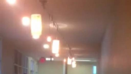 Earthquake Causes 'Light Show' in Office