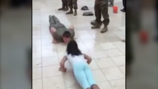 Little Girl Shows up Army Cadet in Push up Challenge