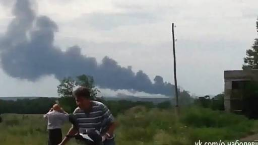Explosion Footage of Shot-Down Malaysia Airlines Boeing 777