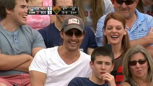 Matthew McConaughey Talks Fanny Packs at Baseball Game