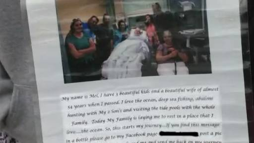 Man's Message in a Bottle Goes Viral After His Death