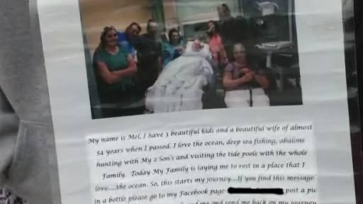 Deceased Man's Message in a Bottle Goes Viral