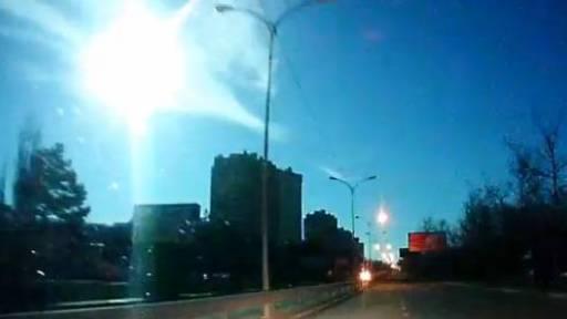Ukrainian Dashcam Captures Meteor