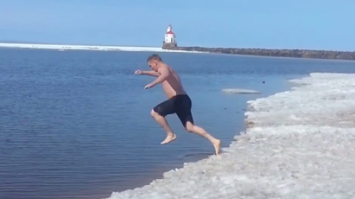 Polar Plunge Causes a Severe Case of 'Potty Mouth'