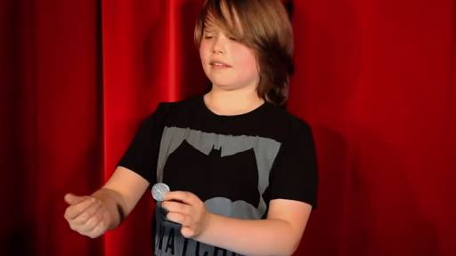 Kid Magician Creates Pretty Cool Coin Trick