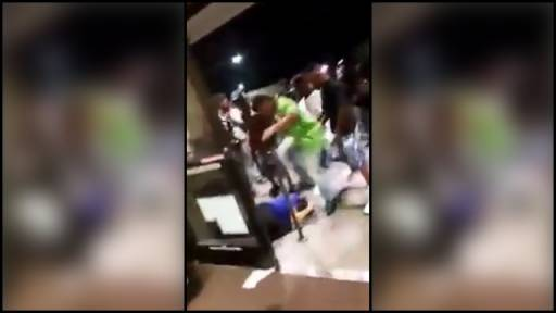 Mob of Teens Attack Grocery Store Employees