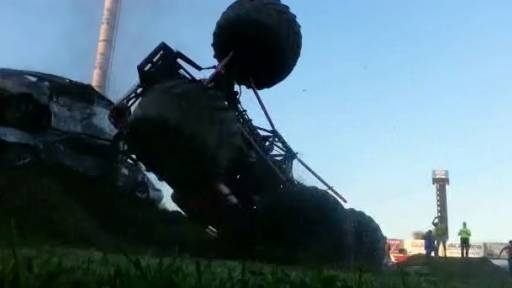 First US Female Monster Truck Backflip Attempt Fails Miserably