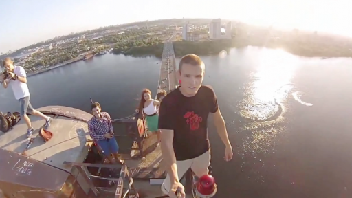 We'll Get Down From This Scary High Bridge...But First, Let's Take a Selfie