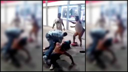 Two Guys Get Owned by a Naked Chick in a Gas Station Brawl