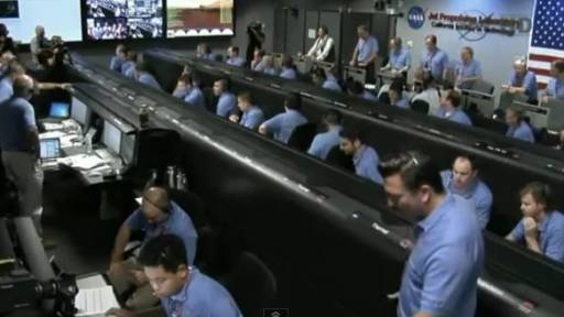 Inside the NASA Control Room During the Mars Touchdown