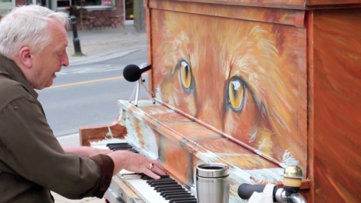 Talented Musician Turns Art Installation into an Incredible Performance