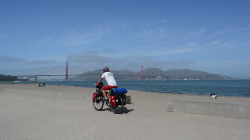 Follow a Man as He Pedals Around the World