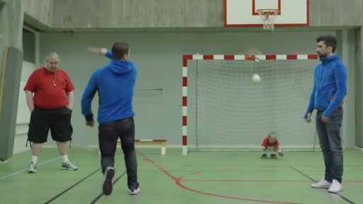 Ping Pong Soccer Can Get Dangerous for the Goalie