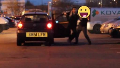 Not-So-Cool Car Theft Prank Turns Into an All-Out Fistfight