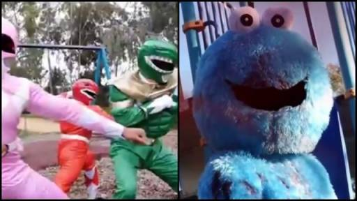 Explicit: Cookie Monster Goes Through the Power Rangers for Treats