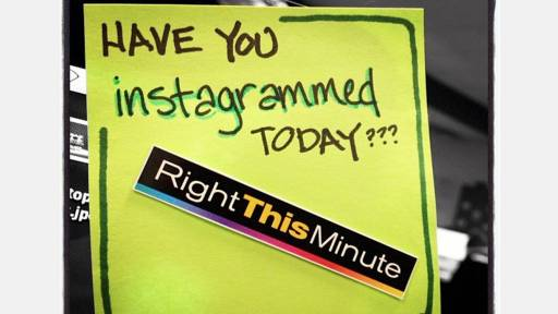 Holla! Check Out Our Instagram Rap RightThisMinute!