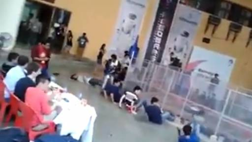College Student Becomes Collateral Damage in Robot Battle