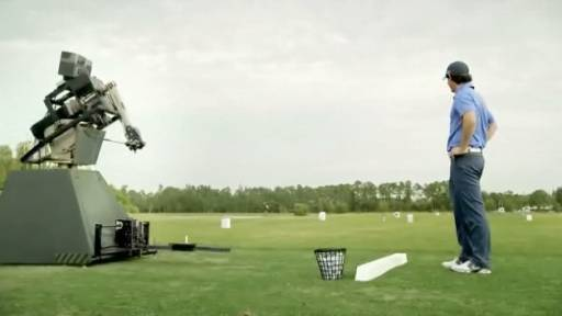 Pro Golfer Rory McIlroy Takes on a Robot