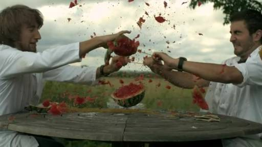 Exploding a Watermelon in Slow Motion