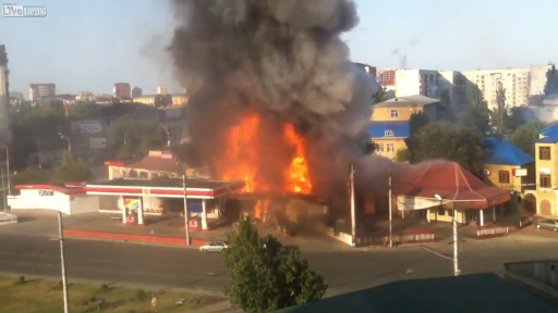 Explosion at Russian Gas Station