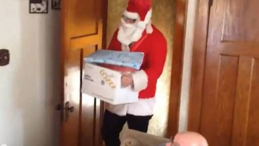 Santa Came With an Amazing Gift for Military Family