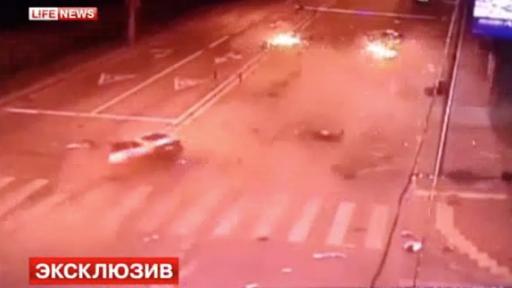 Car Disintegrates Upon Impact During Scary Crash