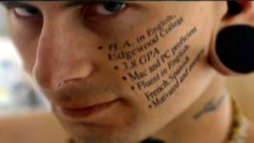 Face Tattoos Leading to Unemployment Increase?