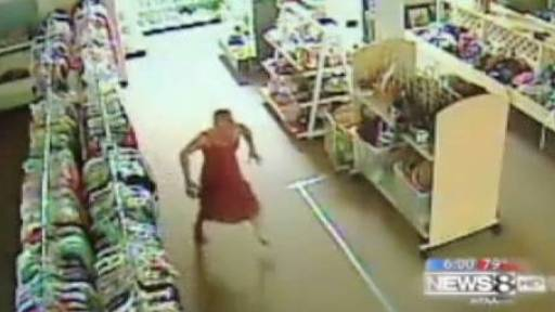 Ex-Con Breaks into Goodwill & Prances Around in Dress