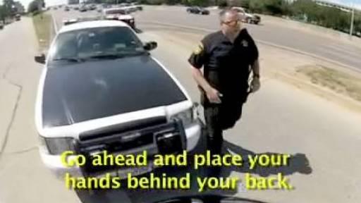 Dallas Biker Allegedly Arrested for His Helmet Cam