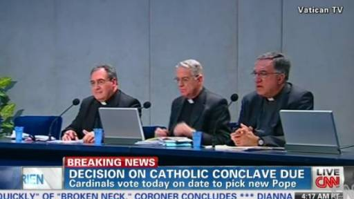 Vatican - Conclave to Begin Tuesday