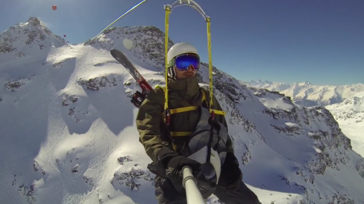 Zip Line Gives One Breathtaking View High Above the French Alps