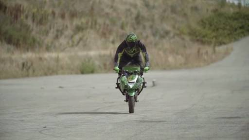Two Riders put on an Impressive Display During a Motorcycle Trick Shot Video