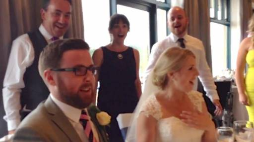 Wedding Couple Gets Flash Mobbed With 'Seasons of Love'