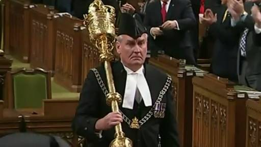 Standing Ovation for Canadian Hero Sergeant-at-arms Kevin Vickers