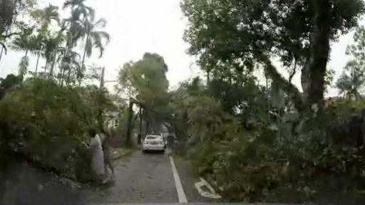 Intense Storm Causes Destruction in Singapore