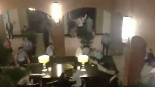 Fight Breaks Out Between Two Wedding Parties in Hotel Lobby