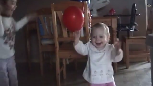 Big Sis Is Beyond Excited for Little Sis' First Steps