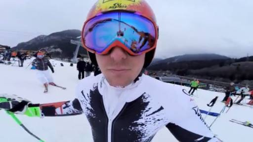 Skier Brings Along GoPro for a Practice Run
